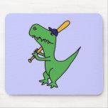 XX- T-rex Dinosaur Playing Baseball Mousepads