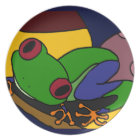 XX- Tree Frog Abstract Art Plate