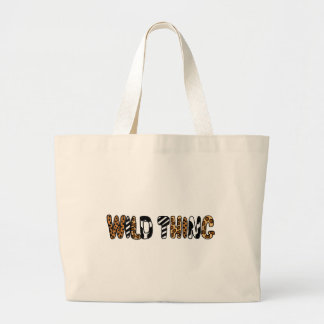 XX- Wild Thing Animal Print Design Large Tote Bag