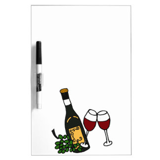 XX- Wine and Grapes Art Design Dry Erase Board