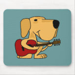 XX- Yellow Labrador Retriever Playing Guitar Mouse Pad