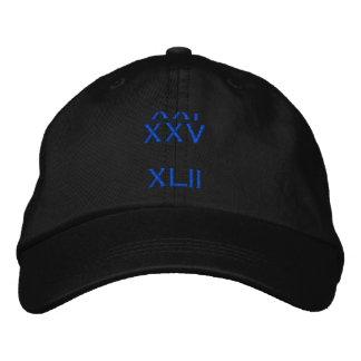 XXI  XXV     XLII EMBROIDERED HAT