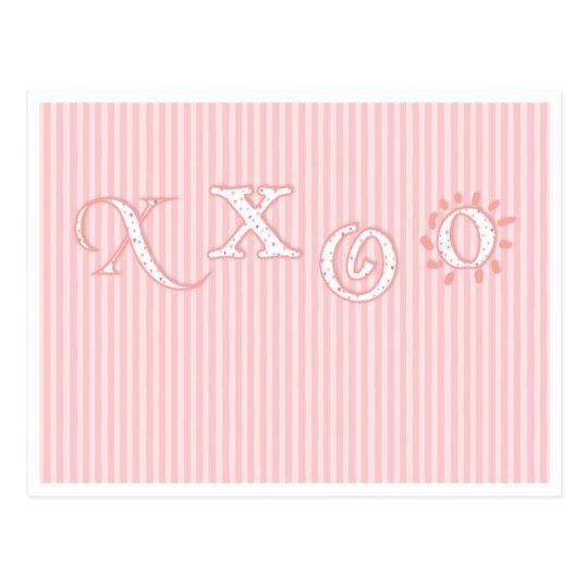 xxoo postcard
