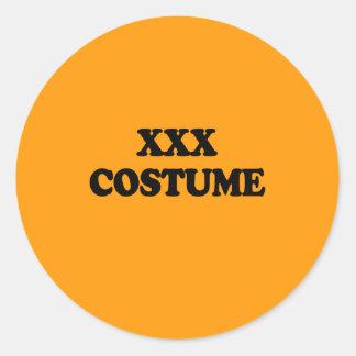 XXX COSTUME - - Halloween - png Round Stickers