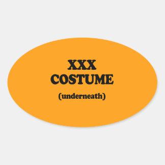XXX COSTUME - Halloween - png Stickers