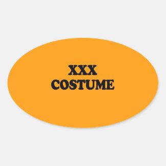 XXX COSTUME - - Halloween Sticker