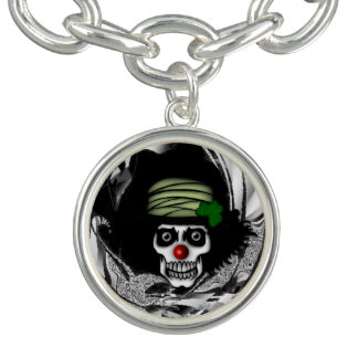 xxx Irish Skeleton Clown Bracelets