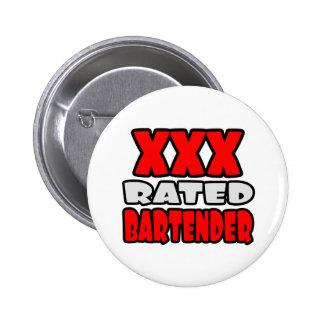 XXX Rated Bartender 2 Inch Round Button