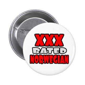 XXX Rated Norwegian 2 Inch Round Button
