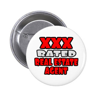 XXX Rated Real Estate Agent 2 Inch Round Button