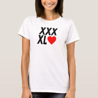 XXXL(heart) - Black T-Shirt