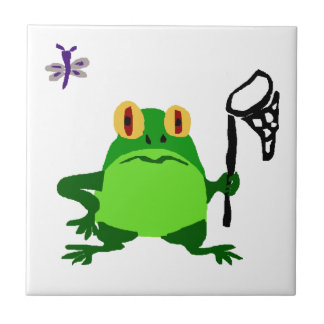 XY- Funny Frog and Dragonfly Cartoon Tile