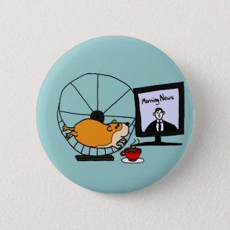 XY- Funny Hamster on an Exercise Wheel Satire 2 Inch Round Button