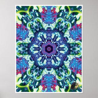 Xyloid Kinetic Collage Kaleidoscope Poster