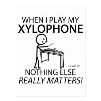 Xylophone Nothing Else Matters Post Card