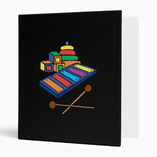 xylophone primary colored binders