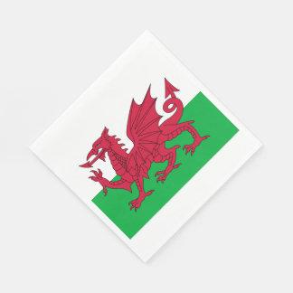 Y Ddraig Goch: Welsh Flag Luncheon Napkins Disposable Napkin