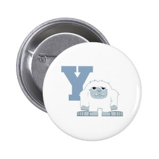Y is for Yeti 2 Inch Round Button