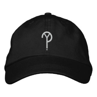 Y?- Symbol Hat- Black (Colors Are Changeable) Embroidered Hat