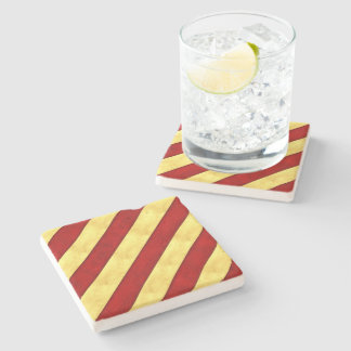 Y Yankee Watercolor Nautical Signal Maritime Flag Stone Coaster