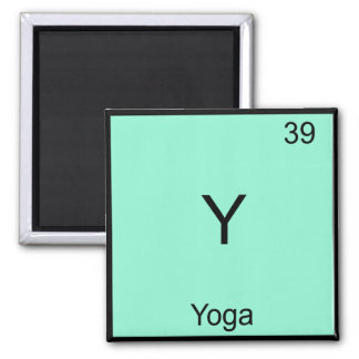 Y - Yoga Funny Chemistry Element Symbol T-Shirt Square Magnet