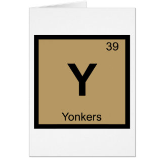 Y - Yonkers New York Chemistry Periodic Table City Card