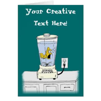 Ya Betcha I'm Stressed! (Fish in a Blender) Card