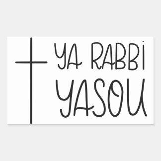 Ya Rabbi Yasou (O Lord Jesus) Handlettered Sticker