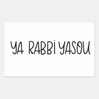 Ya Rabbi Yasou (O Lord Jesus) Sticker