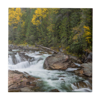 Yaak Falls In Autumn In The Kootenai National Tiles