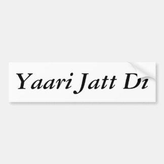 Yaari Jatt Di Bumper Sticker