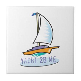 Yacht 2B Me™_logo boat label Tile