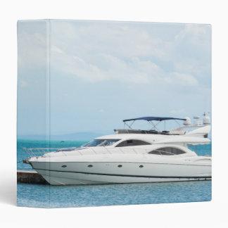 Yacht at mooring 3 ring binder