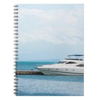 Yacht at mooring notebooks