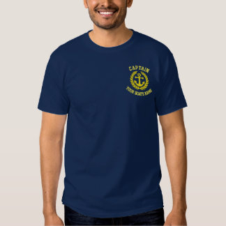 Yacht captains and boats name tshirts