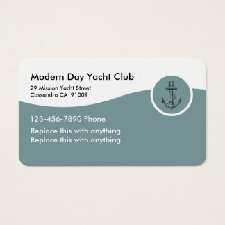 Yacht Club Business Cards