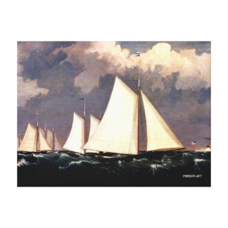 Yacht Club Regatta - Fitz Henry Lane Canvas Print