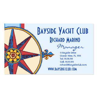 Yacht Club, Sailing Club, Marina, Nautical Shop Pack Of Standard Business Cards