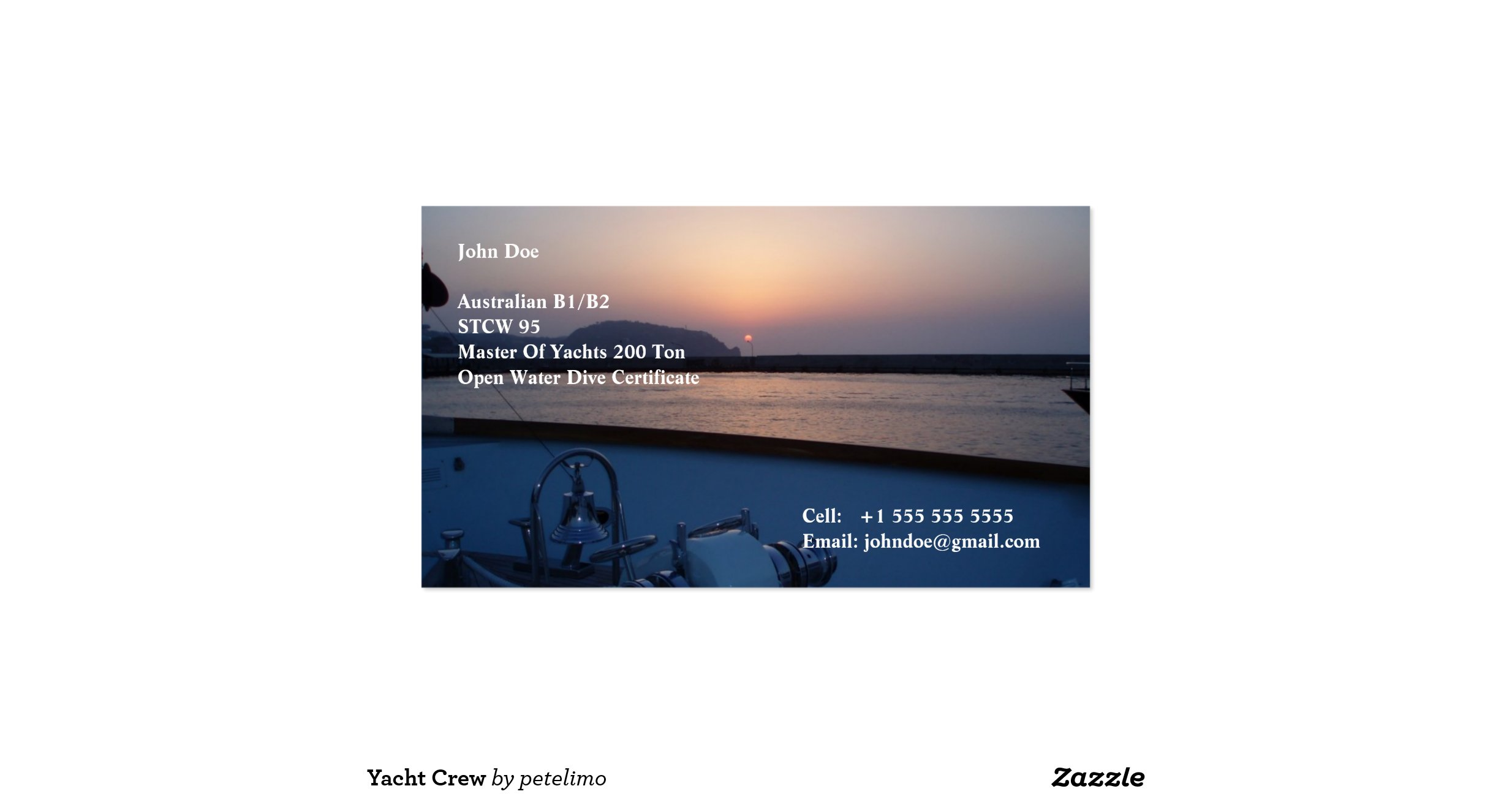 Marine Business Cards of Standard Business Cards