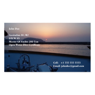 Yacht Crew Pack Of Standard Business Cards