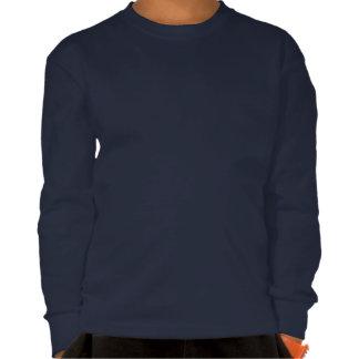 Yacht Flag Anchor Stars Symbol on Blue Tshirts