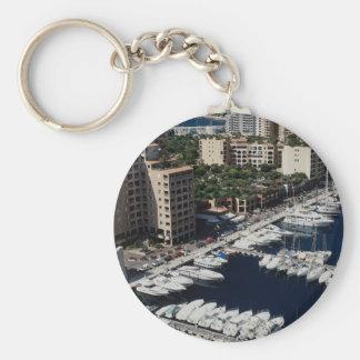 Yacht harbor, Monaco Keychain