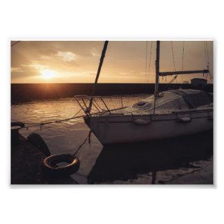 Yacht harbor photo print