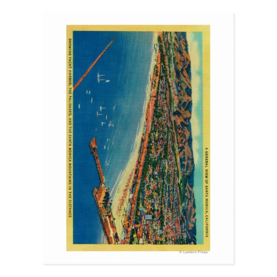 Yacht Harbour, The Palisades, and Santa Monica Postcard