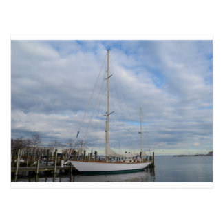 Yacht in Annapolis. Postcard