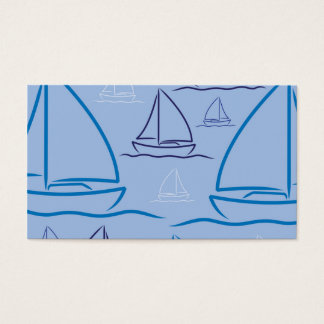 Yacht pattern business card