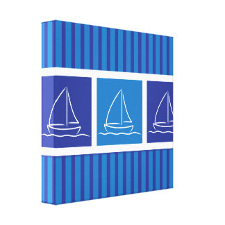 Yacht pattern canvas print