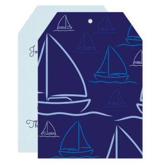 Yacht pattern card