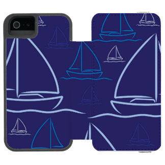 Yacht pattern incipio watson™ iPhone 5 wallet case