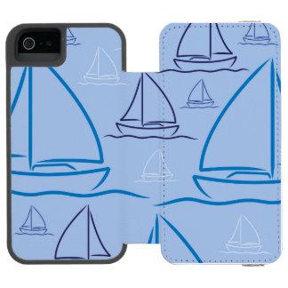 Yacht pattern incipio watson™ iPhone 5 wallet case